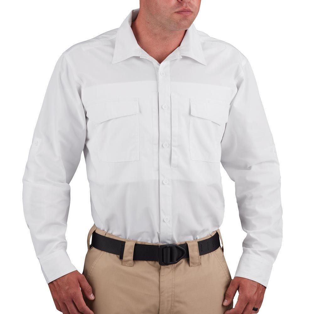 Propper® Men's Long Sleeve RevTac Shirt - Poplin White