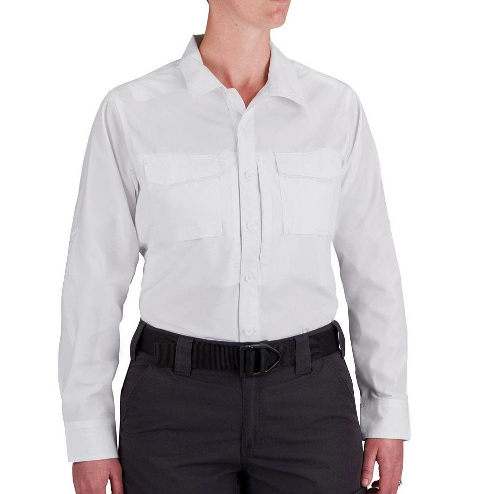 Propper® Women's Long Sleeve RevTac Shirt - Poplin White