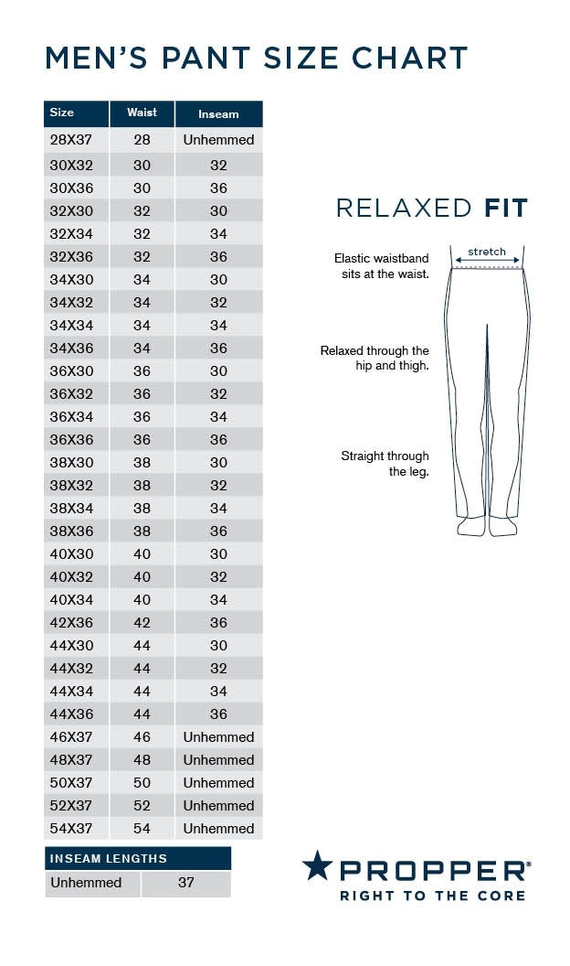 Propper Pants Relaxed Fit Size Chart